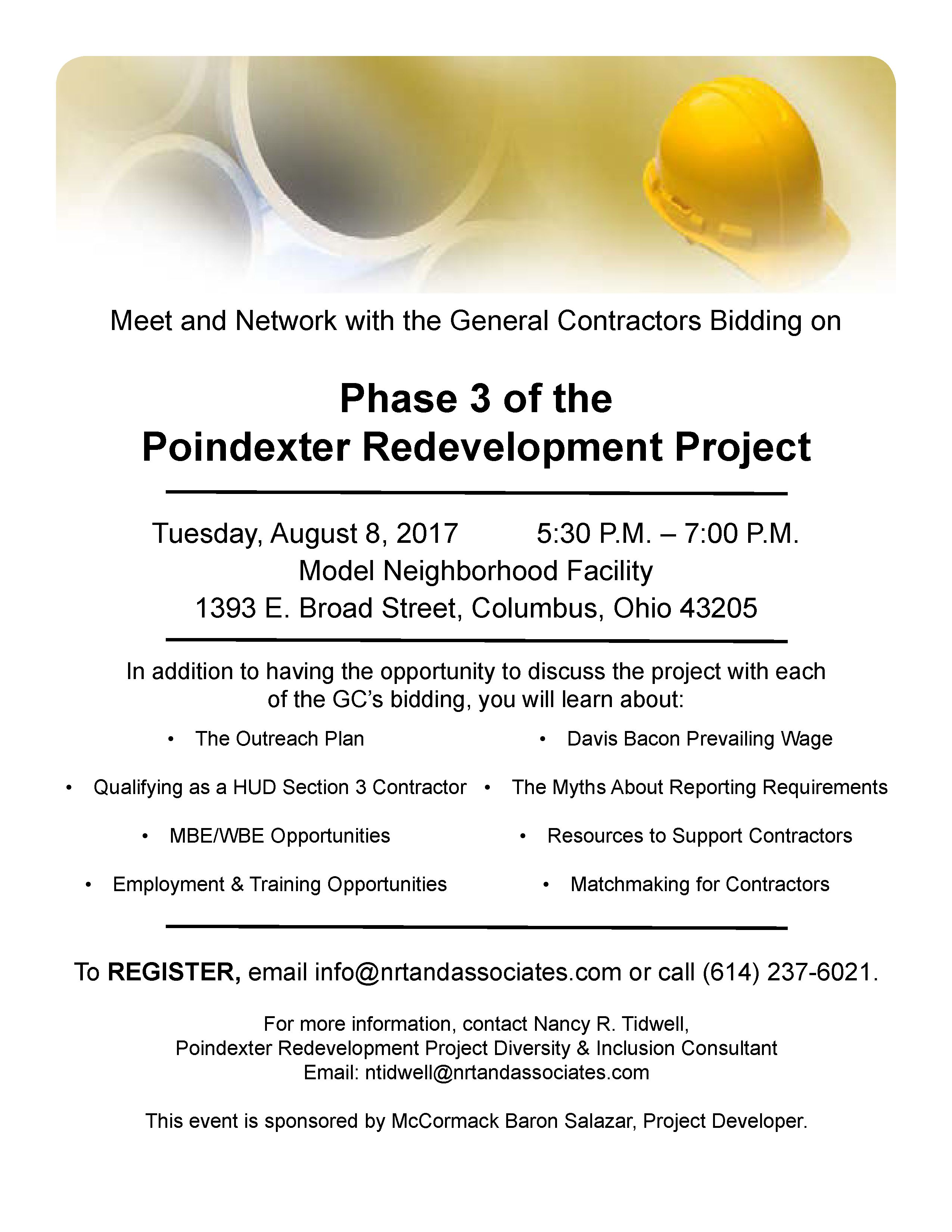 Meet And Greet For Poindexter Phase 3 Redevelopment Ohiombe