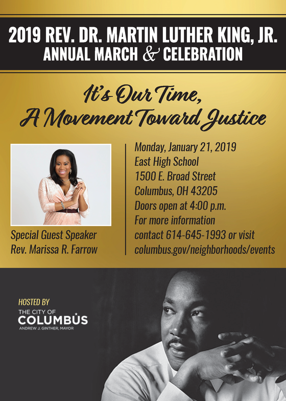 City Of Columbus 2019 Rev Dr Martin Luther King Jr March